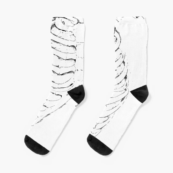 Ribcage bywhacky Socks