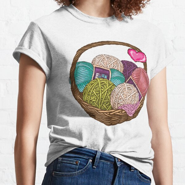 Copy of Copy of Buying yarn and using it are two different hobbies Knitting Crochet shirt Classic T-Shirt