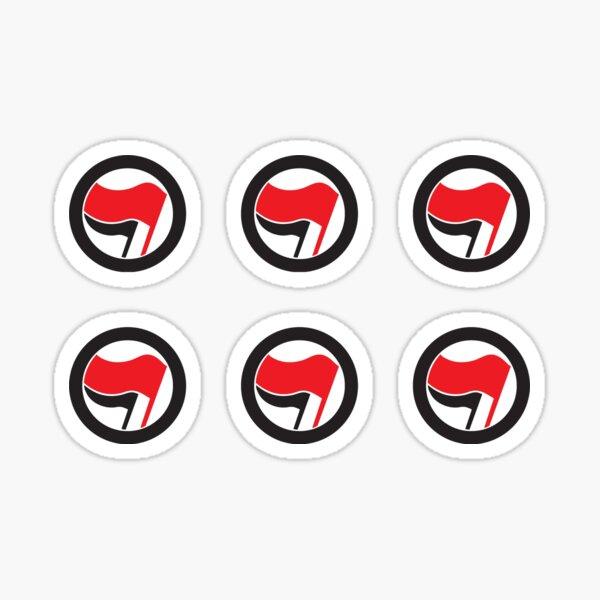 Antifa Logo x6 Pack Pegatina