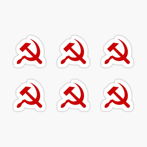 Hammer and Sickle x6 Pack Sticker