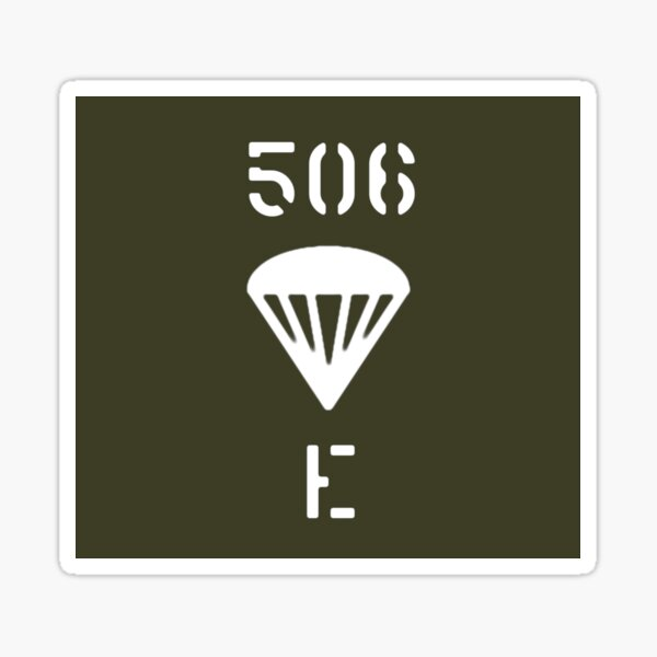 Band of Brothers - Easy Company - Sign Sticker