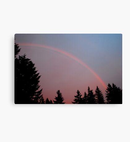 May Evening Rainbow Canvas Print
