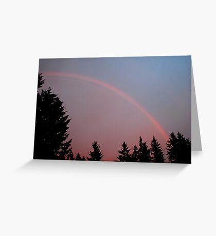 May Evening Rainbow Greeting Card