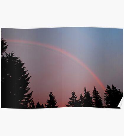 May Evening Rainbow Poster