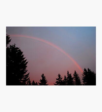 May Evening Rainbow Photographic Print