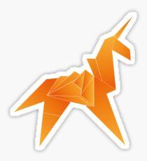 Origami Unicorn Sticker