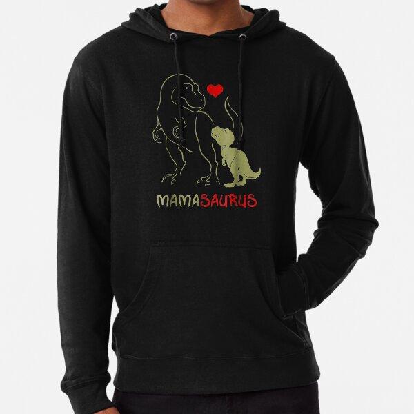 Mamasaurus T rex Mama Saurus Dinosaur Women Mom Gift Lightweight Hoodie