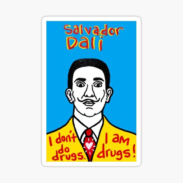 Salvador Dali Pop Folk Art Sticker