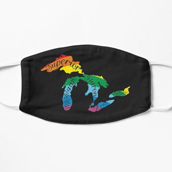 All Michigan Great Lakes Rainbow Colors Flat Mask