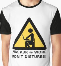 Hacker at work Graphic T-Shirt
