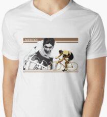vintage poster EDDY MERCKX: the cannibal Men's V-Neck T-Shirt