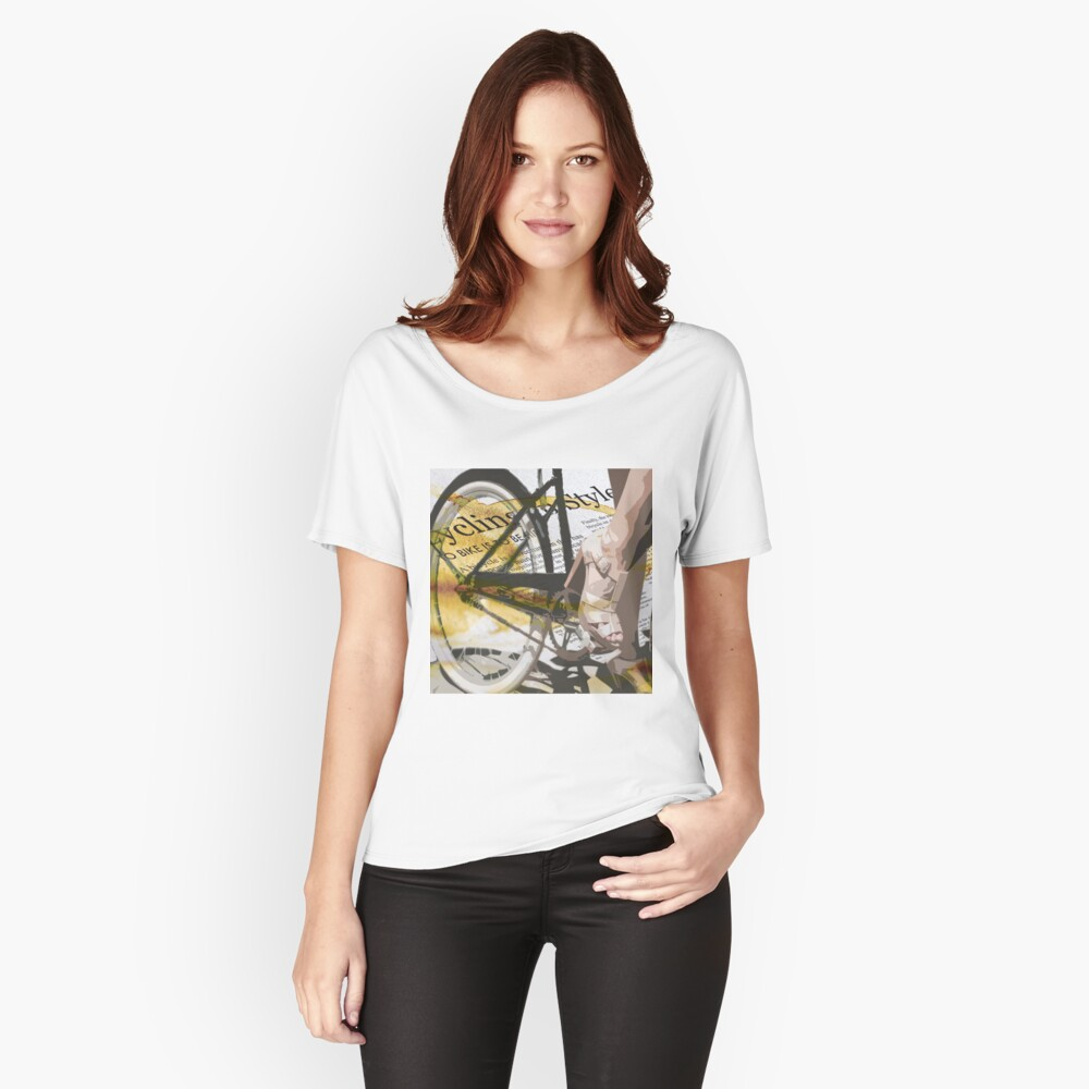 retro BICYCLE URBAN CHIC print Relaxed Fit T-Shirt