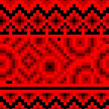 dark red pattern pixel by cavia