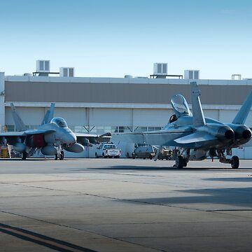 FA-18 Hornets RAAF Base Pearce by palmerphoto