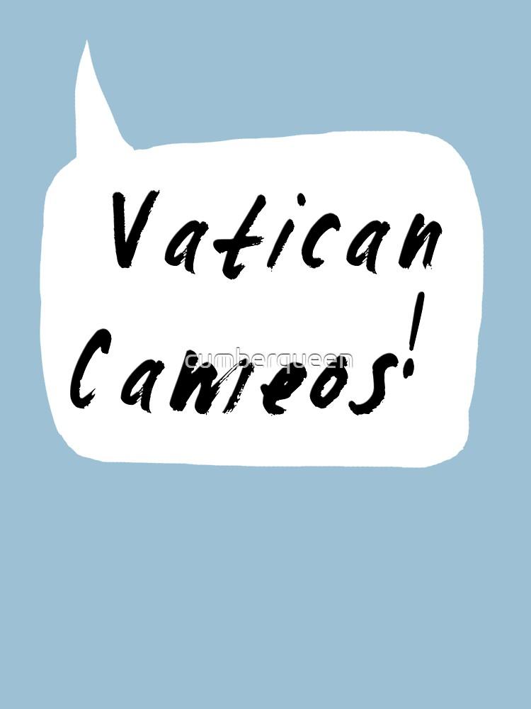 Vatican Cameos! (Black text)  | Women's T-Shirt