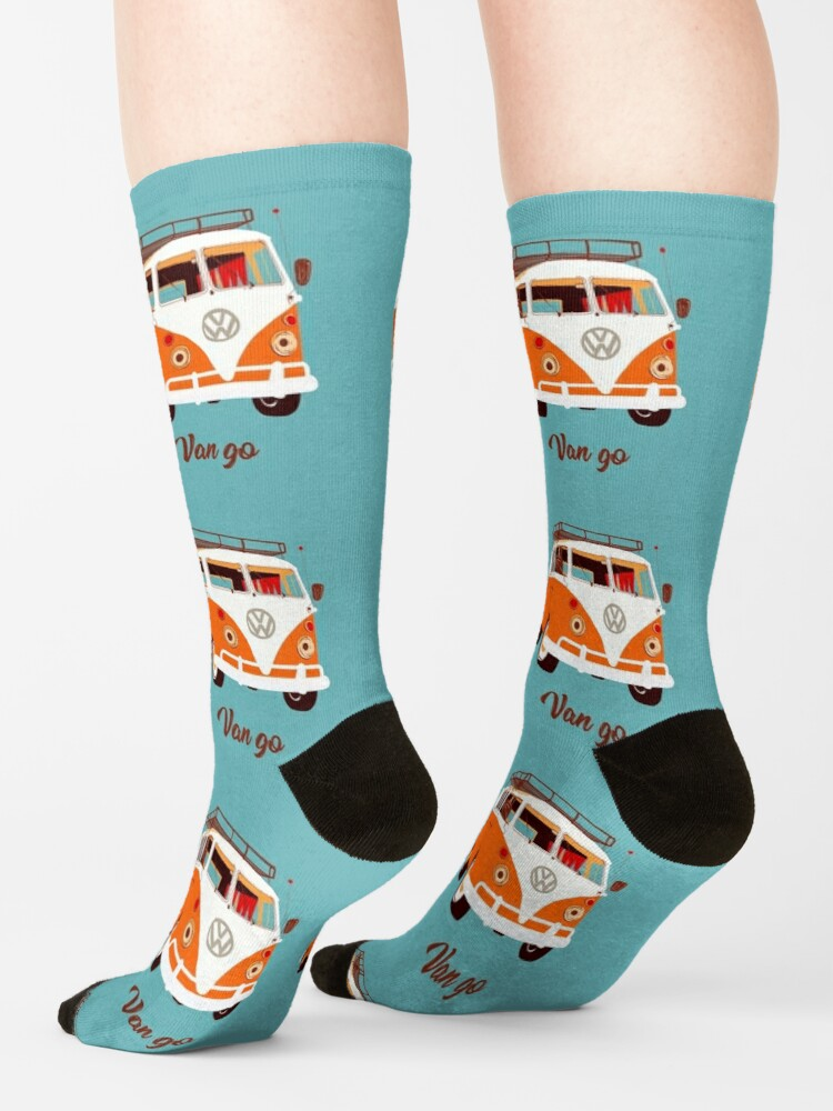 Alternate view of orange Van go Socks