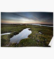 Salt Marsh Sunset Poster