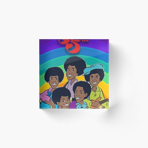 Jackson 5 70's Cartoon Retro Style T-Shirt, Mask Acrylic Block