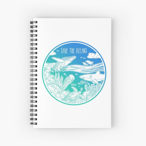 Save the Oceans! Spiral Notebook