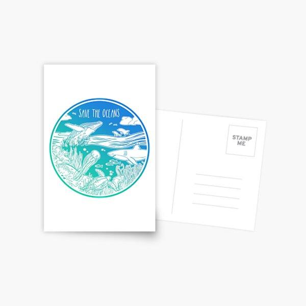 Sauvez les océans! Carte postale