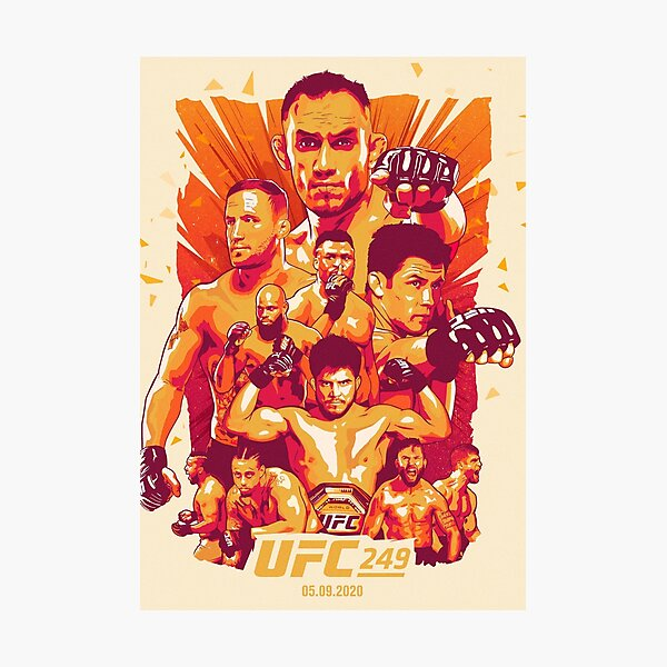 UFC 249 Official Artwork: Tony Ferguson Vs Justin Gaethje Photographic Print