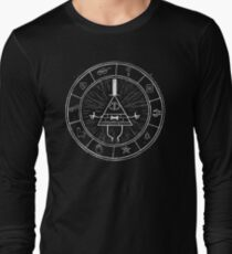 Gravity Falls Bill Cipher - White on Black Long Sleeve T-Shirt