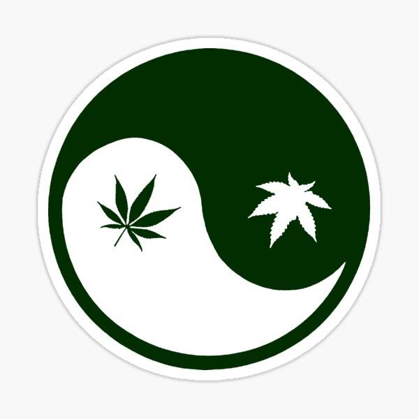 Weed YinYang Sticker
