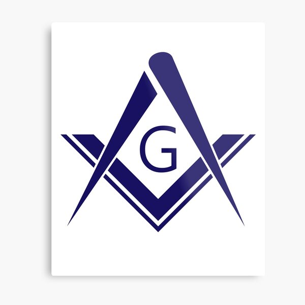 freemason symbol Metal Print