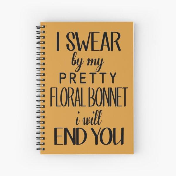 floral bonnet Spiral Notebook