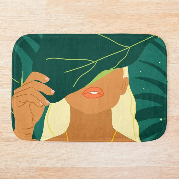 To The Moon & Never Back #illustration #painting Bath Mat