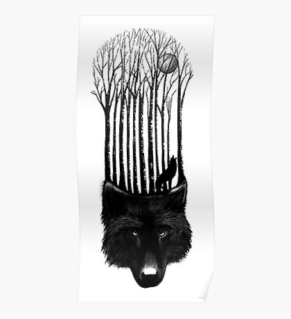 Wolf barcode Poster