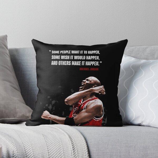 Make it Happen - Michael Jordan Throw Pillow