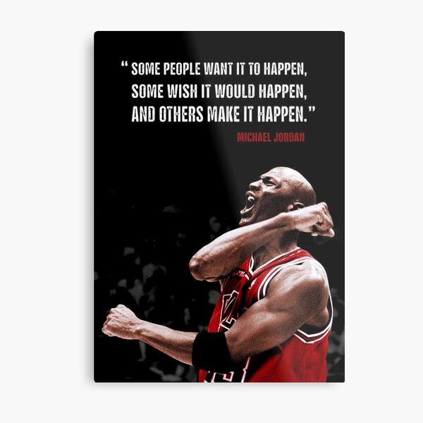 Make it Happen - Michael Jordan Metal Print