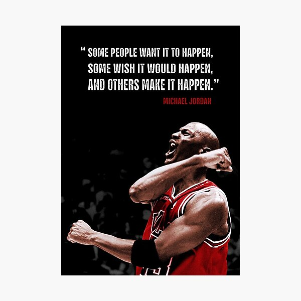 Make it Happen - Michael Jordan Photographic Print