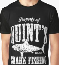Quints Shark Fishing Amity Island Graphic T-Shirt