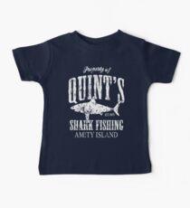 Quints Shark Fishing Amity Island Baby Tee