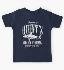 Quints Shark Angeln Amity Island Kinder T-Shirt