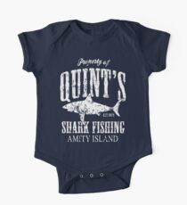 Body de manga corta para bebé Quints Shark Fishing Amity Island