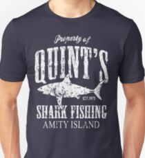 Quints Shark Angeln Amity Island Slim Fit T-Shirt