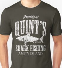 Quints Shark Fishing Amity Island T-Shirt