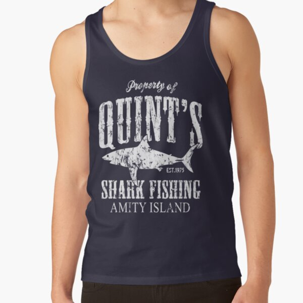 Quints Shark Fishing Amity Island Tank Top