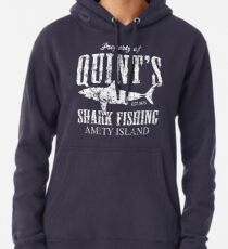 Quints Shark Fishing Amity Island Pullover Hoodie
