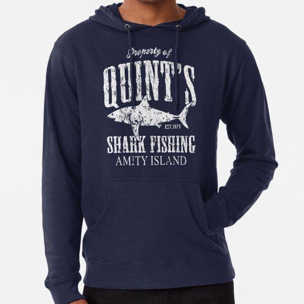 Quints Shark Fishing Amity Island Leichter Hoodie