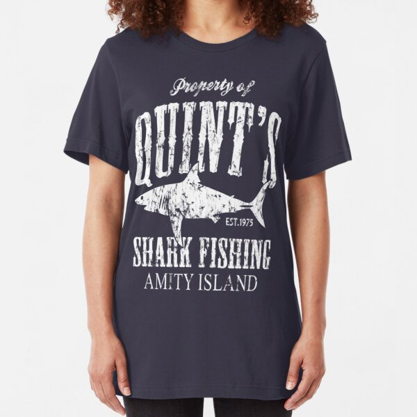Amity Island Film Inspired Jaws Movie Shark Scary Retro T-shirt
