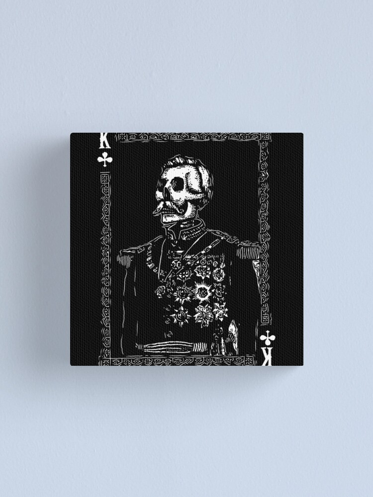Alternate view of Day of the Dead - King of Clubs Canvas Print