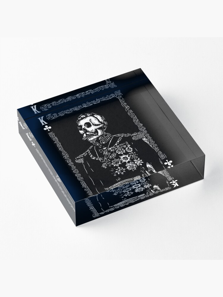 Alternate view of Day of the Dead - King of Clubs Acrylic Block