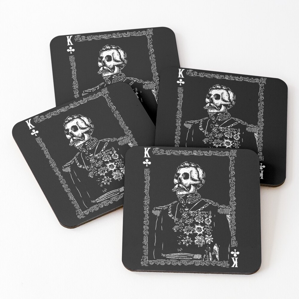 Day of the Dead - King of Clubs Coasters (Set of 4)