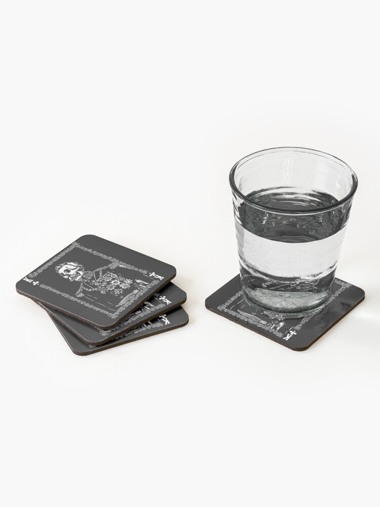 Alternate view of Day of the Dead - King of Clubs Coasters (Set of 4)