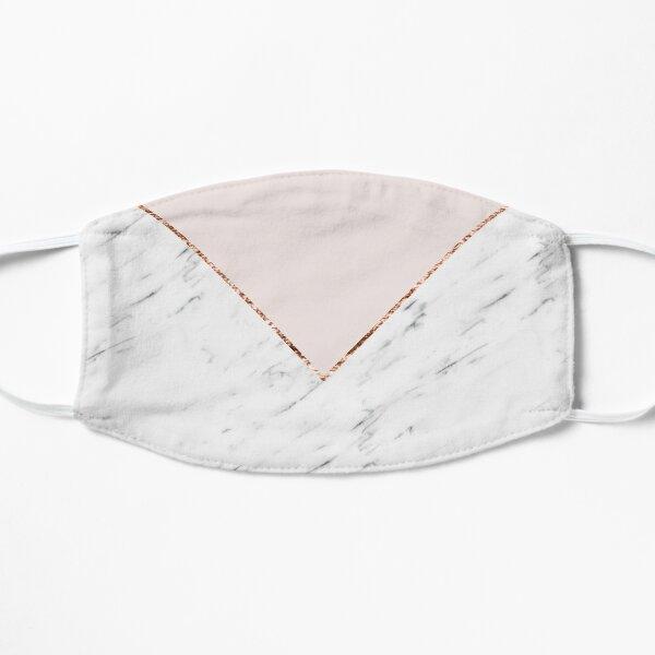 Peony blush geometric marble Mask