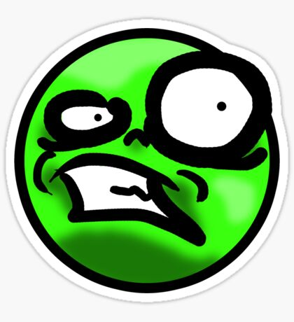 WTF Face (Green) Sticker